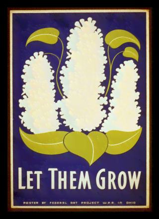 Quadro Poster Propaganda Let Them Grow