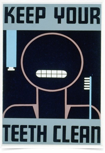 Poster Propaganda Keep Your Teeth Clean