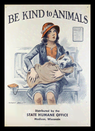 Quadro Poster Propaganda Be Kind to Animals
