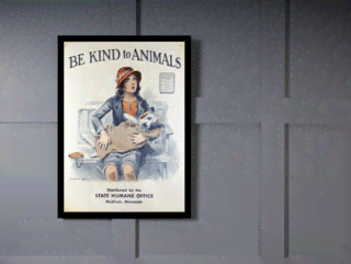 Quadro Poster Propaganda Be Kind to Animals na internet