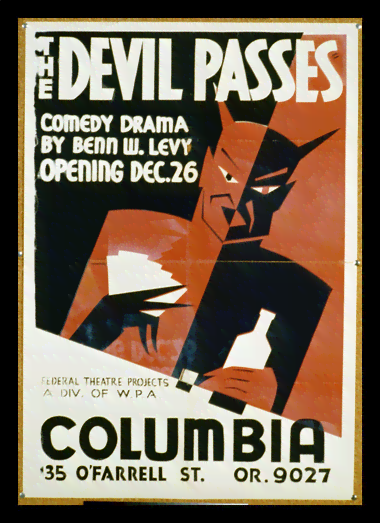 Quadro Poster Propaganda The Devil Passes
