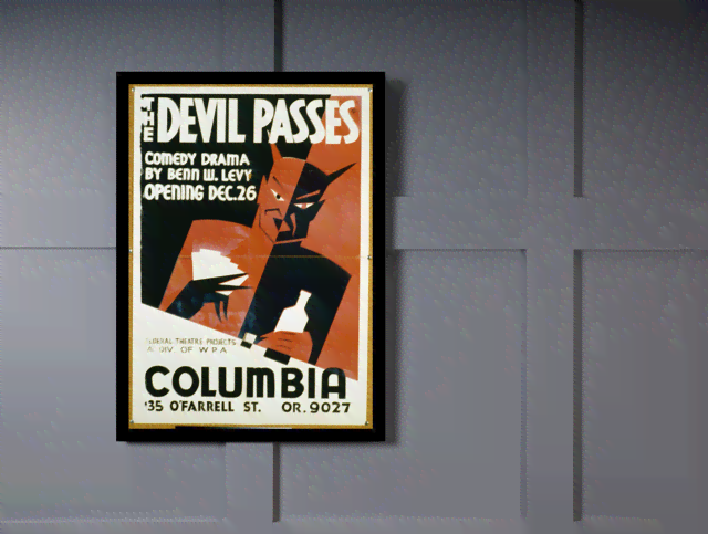 Quadro Poster Propaganda The Devil Passes na internet
