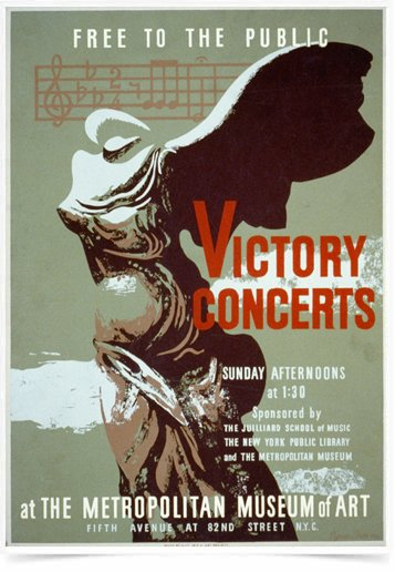 Poster Propaganda Victory Concerts