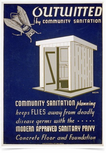 Poster Propaganda Outwitted Community Sanitation