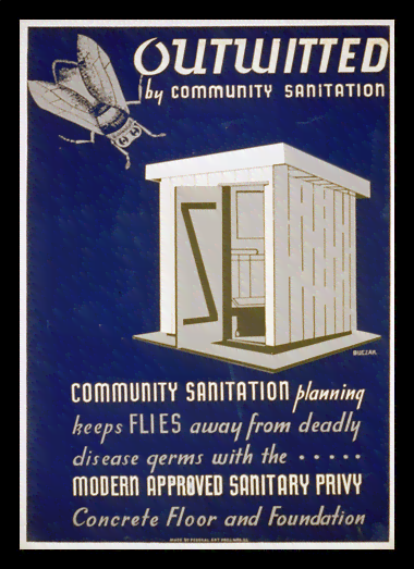 Quadro Poster Propaganda Outwitted Community Sanitation