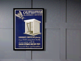 Quadro Poster Propaganda Outwitted Community Sanitation na internet