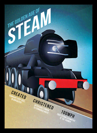 Quadro Poster Propaganda The Golden Age of Steam