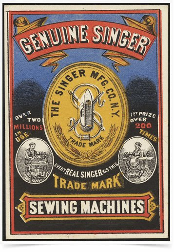 Poster Propaganda Sewing Machines Singer