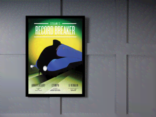 Quadro Poster Propaganda Steams Record Breaker na internet