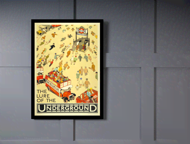 Quadro Poster Propaganda The Lure Of The Underground na internet