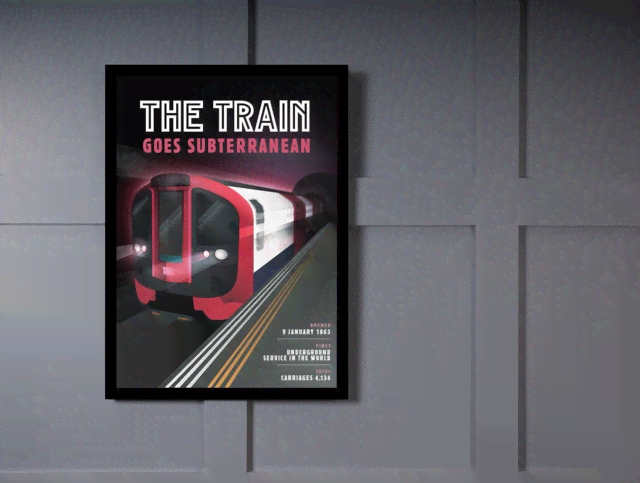 Quadro Poster Propaganda The Train Goes Subterranean na internet