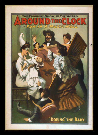 Quadro Poster Propaganda Around the Clock