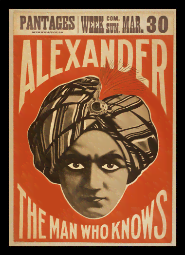 Quadro Poster Propaganda Alexander The Man