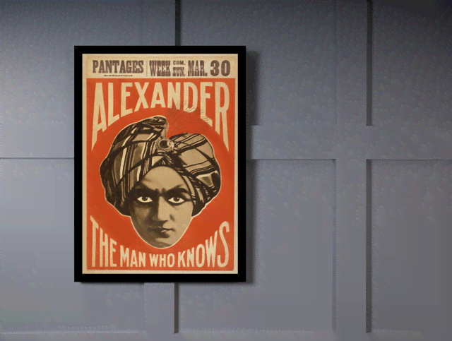 Quadro Poster Propaganda Alexander The Man  na internet