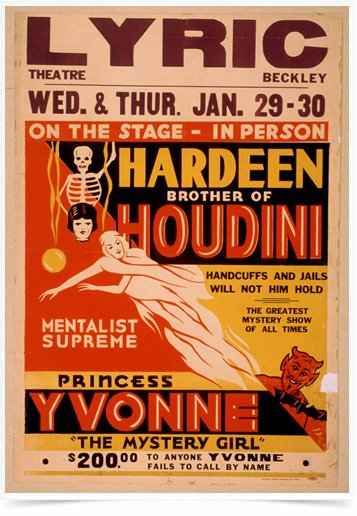 Poster Propaganda Hardeen Brother of Houdini