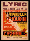 Quadro Poster Propaganda Hardeen Brother of Houdini