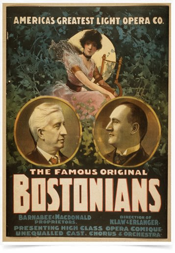 Poster Propaganda The Famous Original Bostonians 1
