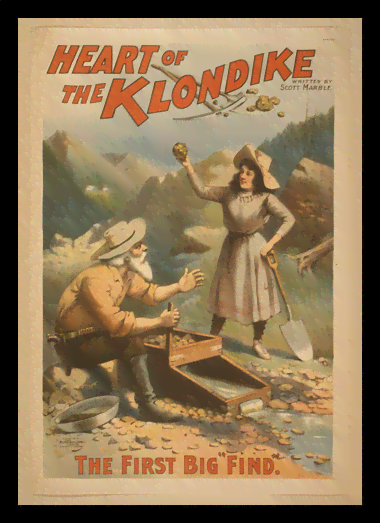 Quadro Poster Propaganda Heart of the Klondike