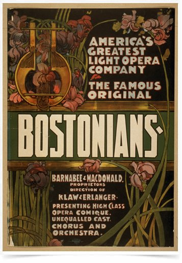 Poster Propaganda The Famous Original Bostonians 2