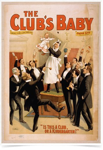 Poster Propaganda The Clubs Baby 2