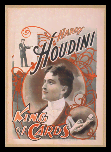 Quadro Poster Propaganda Harry Houdini King of Cards