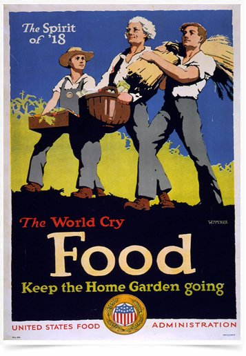 Poster Propaganda Guerra The World Cry Food