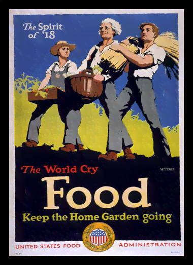 Quadro Poster Propaganda Guerra The World Cry Food