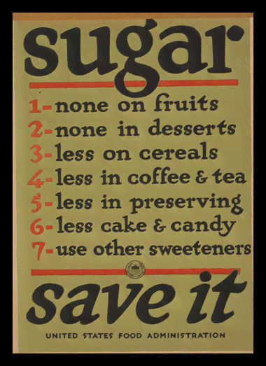 Quadro Poster Vintage Gerra Sugar Save it