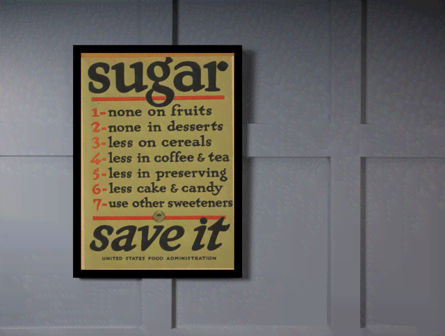 Quadro Poster Vintage Gerra Sugar Save it na internet