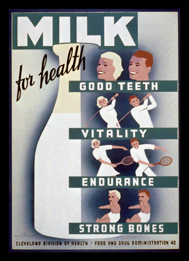 Quadro Poster Propaganda Bebidas Milk for Health