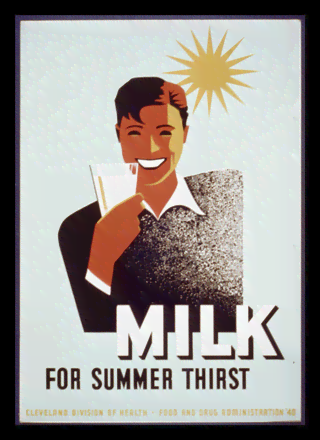 Quadro Poster Propaganda Bebidas Milk for Summer Thisrt