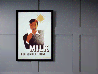 Quadro Poster Propaganda Bebidas Milk for Summer Thisrt na internet