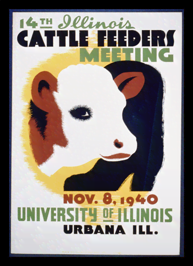 Quadro Poster Natureza Cattle Feeders Meeting