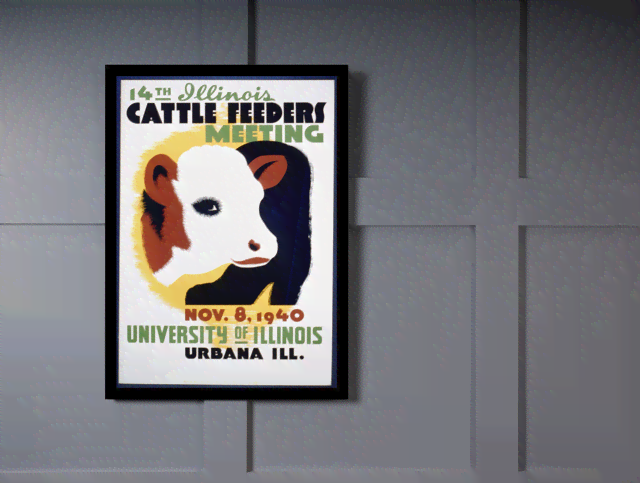 Quadro Poster Natureza Cattle Feeders Meeting na internet