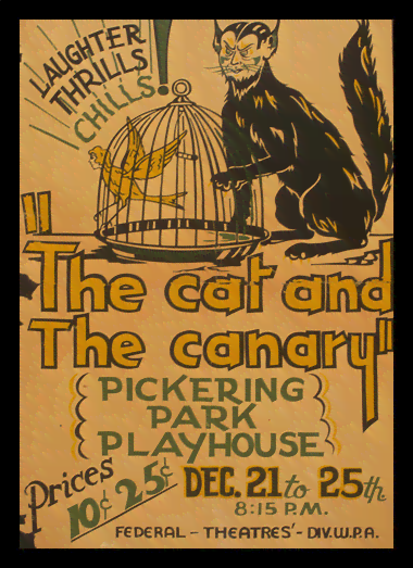 Quadro Poster Natureza The Cat and The Canary