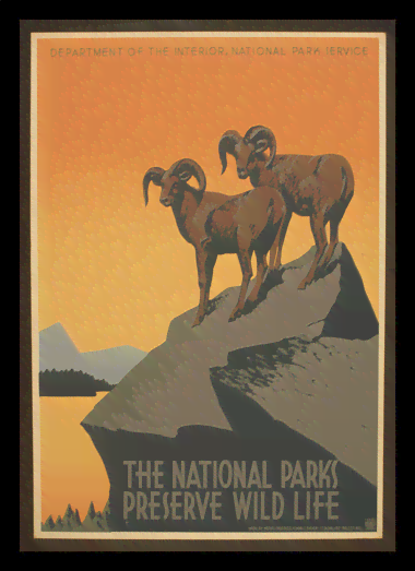 Quadro Poster Natureza The National Parks