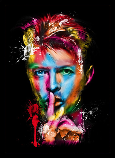 Quadro Poster Art Digital David Bowie 1