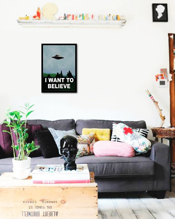Quadro Poster Art Digital I Want To Believe Arquivo X na internet