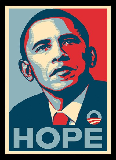 Quadro Poster Art Digital Obama Hope