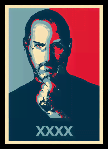 Quadro Poster Art Digital Steve Jobs XXXX