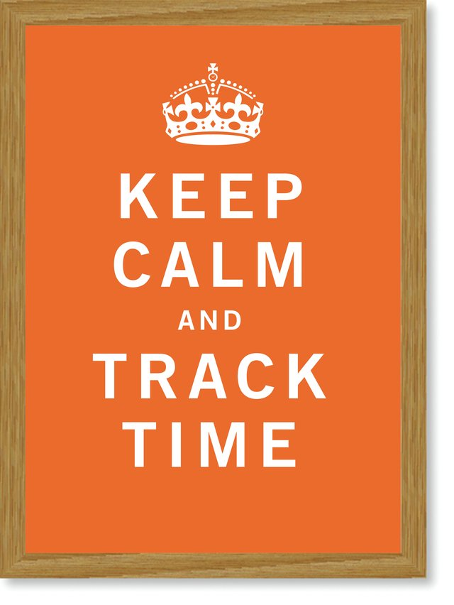 Quadro Poster Frases Keep Calm Track - Decor10
