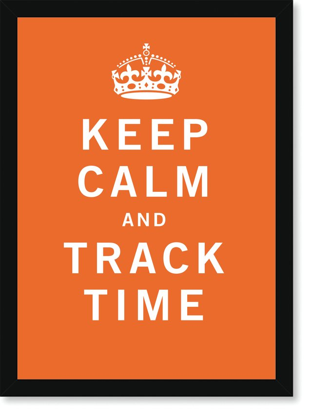 Quadro Poster Frases Keep Calm Track