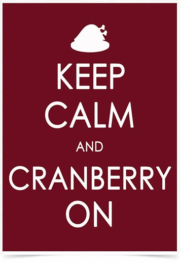 Poster Frases Keep Calm Cranberry - Decor10