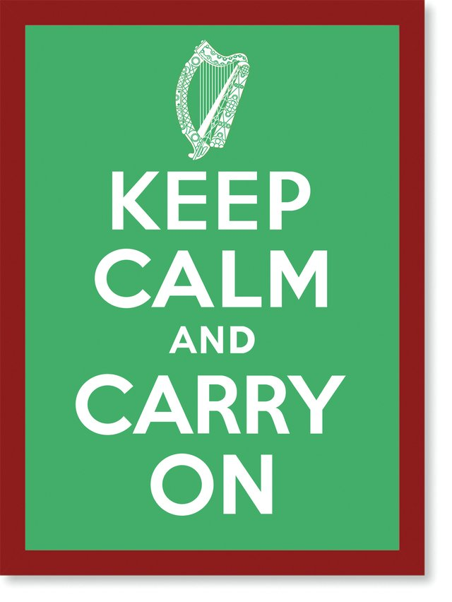 Quadro Poster Frases Keep Calm Carry - loja online