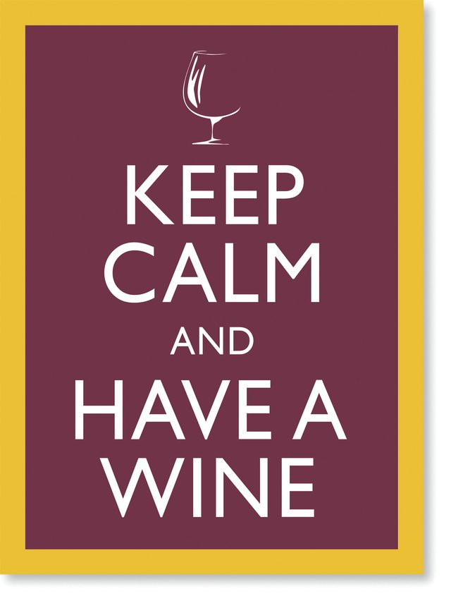 Quadro Poster Frases Keep Calm Wine - comprar online