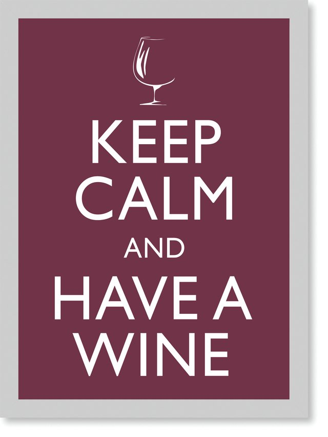 Quadro Poster Frases Keep Calm Wine na internet