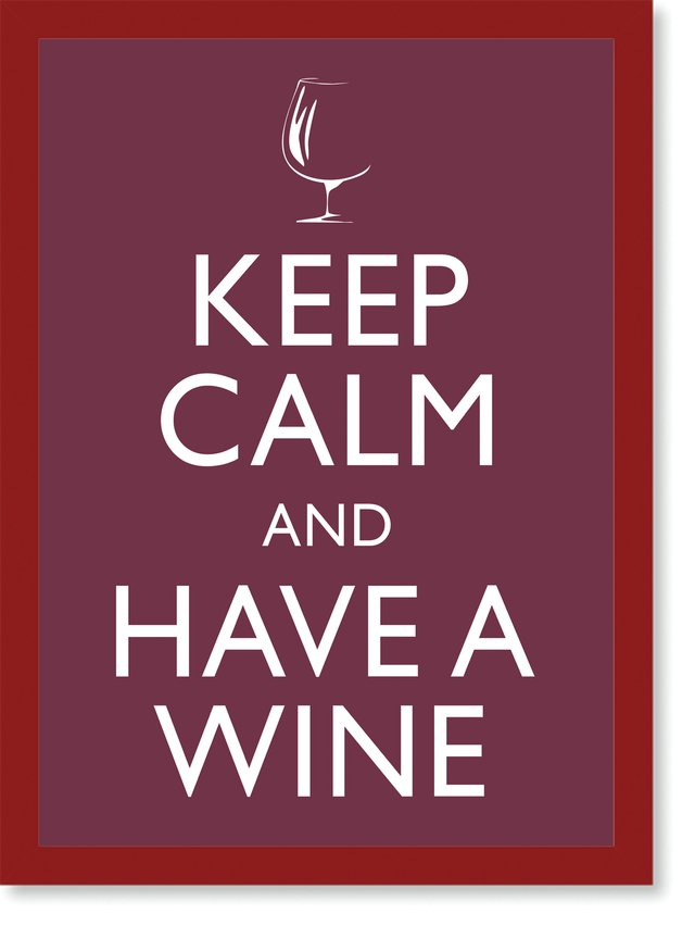Quadro Poster Frases Keep Calm Wine - loja online