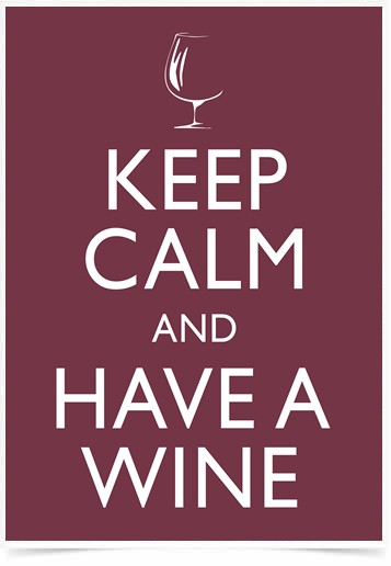 Poster Frases Keep Calm Wine - Decor10