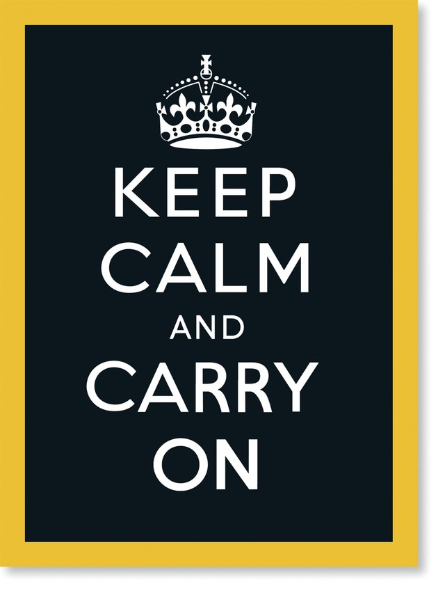 Quadro Poster Frases Keep Calm Carry Black - comprar online