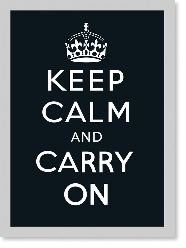 Quadro Poster Frases Keep Calm Carry Black na internet